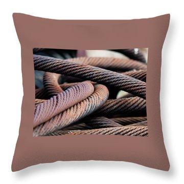 Cable Chaos Throw Pillow