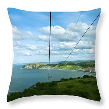 Cable Lift Throw Pillow by Svetlana Sewell