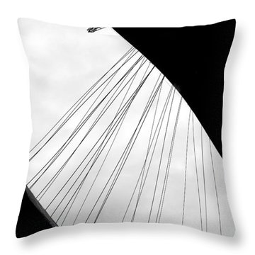 Throw Pillow featuring the photograph Cables And Funes by Valentino Visentini