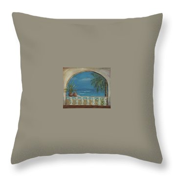Cabo Arch Throw Pillow by Jeanie Watson