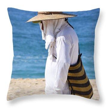 Cabo Beach Hawker. Throw Pillow