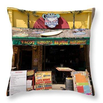 Cabo Cantina Mexican Restaurant In Santa Monica California Dsc3637 Throw Pillow