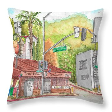 Cabo Cantina, Sunset Blvd And Sweetzer Ave., West Hollywood, California Throw Pillow