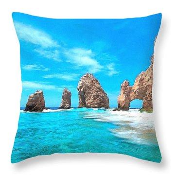 Cabo San Lucas Mexico Throw Pillow by Maciek Froncisz