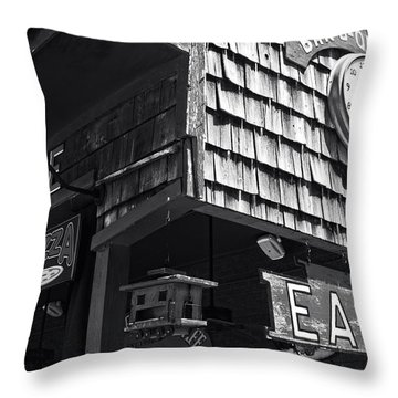 Bar B Que Caboose Cafe Throw Pillow