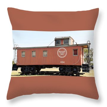 Throw Pillow featuring the photograph Caboose by Ray Shrewsberry