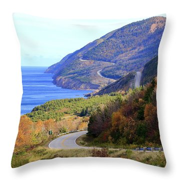 Cabot Trail, Cape Breton, Nova Scotia Throw Pillow