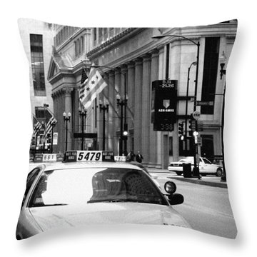 Cabs In The City Throw Pillow