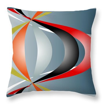 Throw Pillow featuring the digital art Cacophony 2 by Leo Symon
