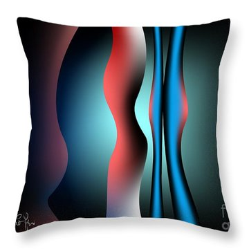 Throw Pillow featuring the digital art Cacophony by Leo Symon