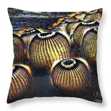 Cacto Lanterns Throw Pillow by Dee Flouton