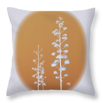 Cactus Architectre Throw Pillow by Linda Hollis