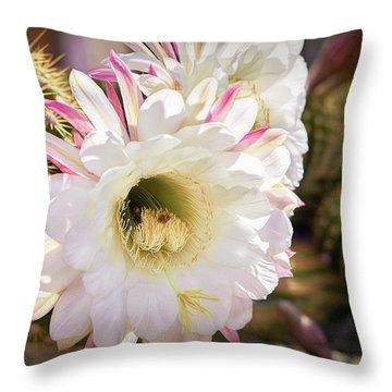 Cactus Bloom 2 Throw Pillow
