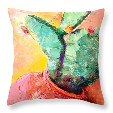 Cactus Cool Throw Pillow