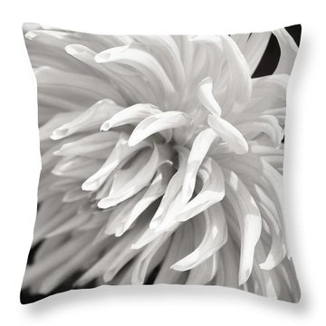 Cactus Dahlia Throw Pillow