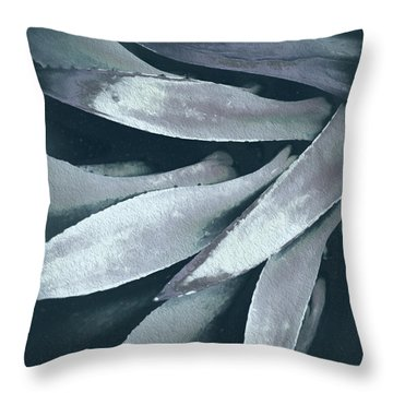 Throw Pillow featuring the photograph Cactus In Blue And Grey 2 by Julie Palencia