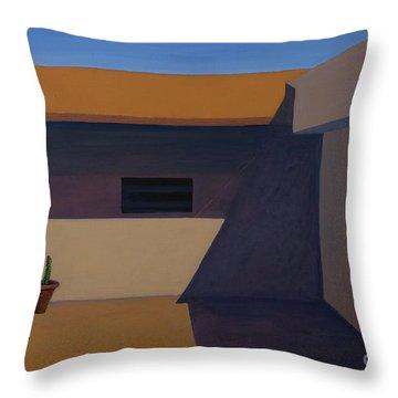 Cactus In Summer Heat Throw Pillow