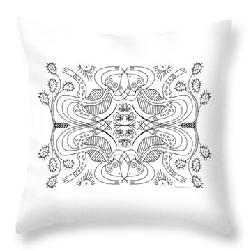 Cactus Liz Throw Pillow
