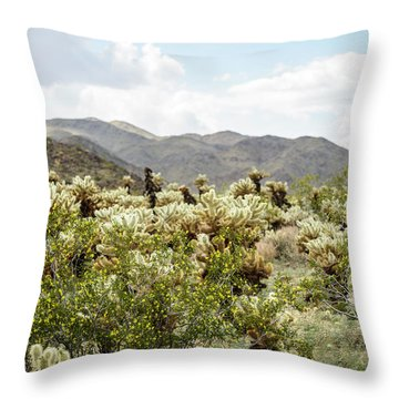 Cactus Paradise Throw Pillow by Amyn Nasser