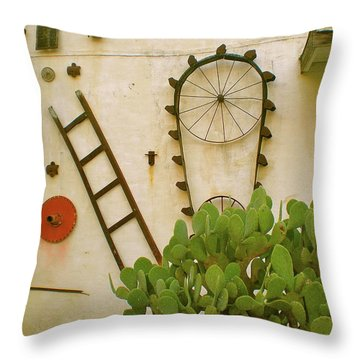 Cactus Throw Pillow by Sheep McTavish