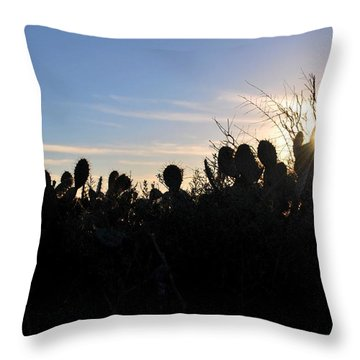 Throw Pillow featuring the photograph Cactus Silhouettes by Matt Harang