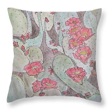 Cactus Voices #2 Throw Pillow
