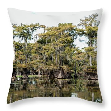 Caddo Bayou Throw Pillow