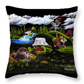 Caddy Shack Throw Pillow
