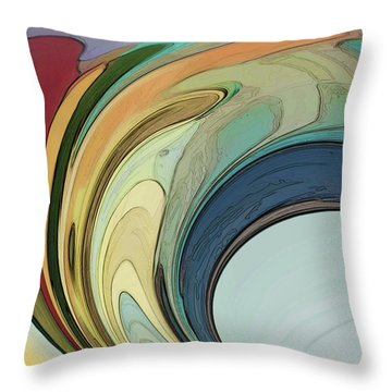 Throw Pillow featuring the digital art Cadenza by Gina Harrison
