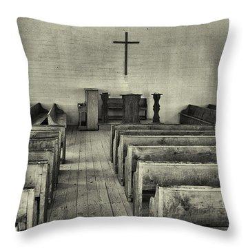 Cades Cove Methodist Church Throw Pillow