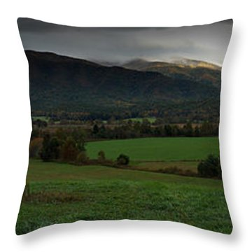 Cades Cove Panoramic Throw Pillow