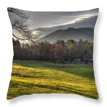 Cades Cove, Spring 2016,ii Throw Pillow