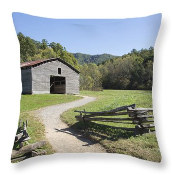 Cades Stables Throw Pillow