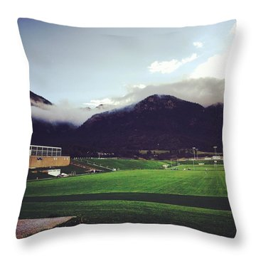 Cadet Athletic Fields Throw Pillow