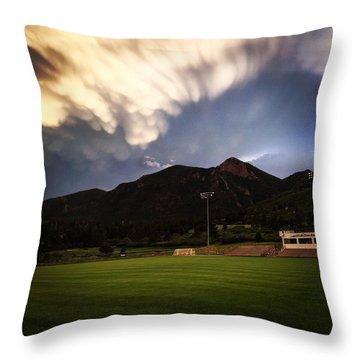 Cadet Soccer Stadium Throw Pillow