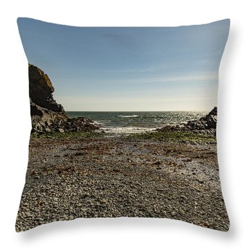Throw Pillow featuring the photograph Cadgwith Cove Beach by Brian Roscorla