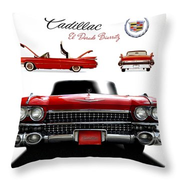 Throw Pillow featuring the photograph Cadillac 1959 by Gina Dsgn