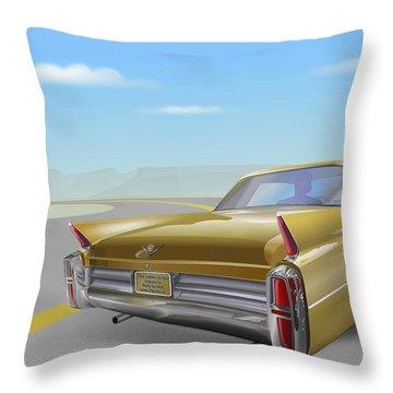 Cadillac De Ville Throw Pillow