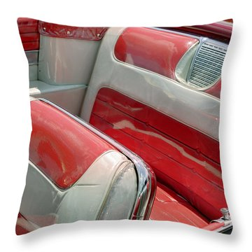 Cadillac El Dorado 1958 Seats. Miami Throw Pillow