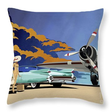 Cadillac Eldorado 1959 Throw Pillow