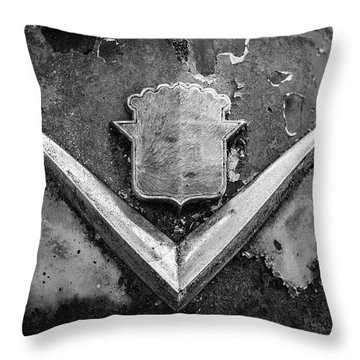 Cadillac Emblem On Rusted Hood Throw Pillow