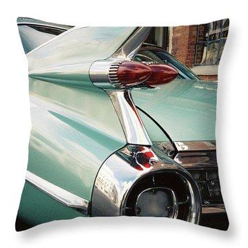 Cadillac Fins Throw Pillow