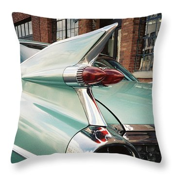 Cadillac Fins Throw Pillow