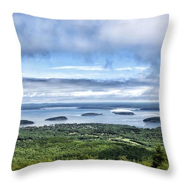 Cadillac Mountain View - Acadia National Park Throw Pillow