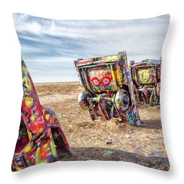 Cadillac Ranch 1 Throw Pillow