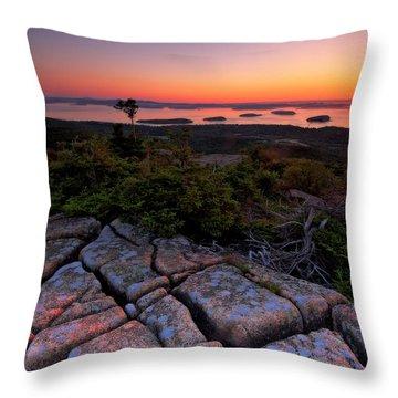 Cadillac Rock Throw Pillow