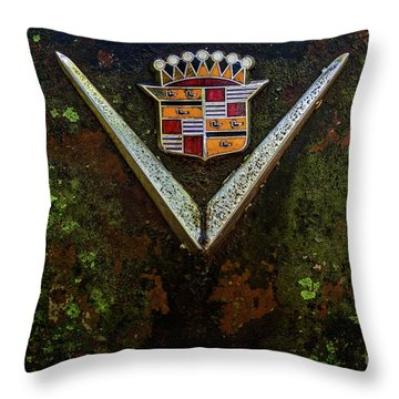 Cadillac Vee And Crest Throw Pillow