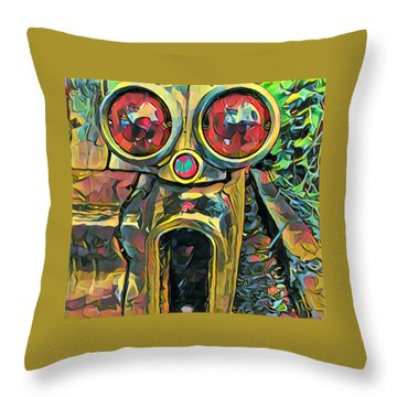 Cadillacasauraus Throw Pillow