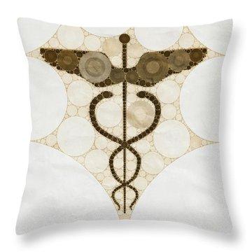 Caduceus Throw Pillows