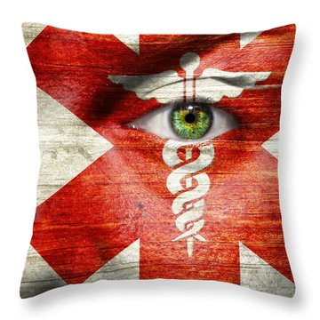 Caduceus  Throw Pillow by Semmick Photo